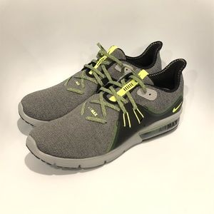 huge selection of 223c5 bae4d Nike Shoes - Nike Air Max Sequent 3 Grey Volt Glow 921694-007